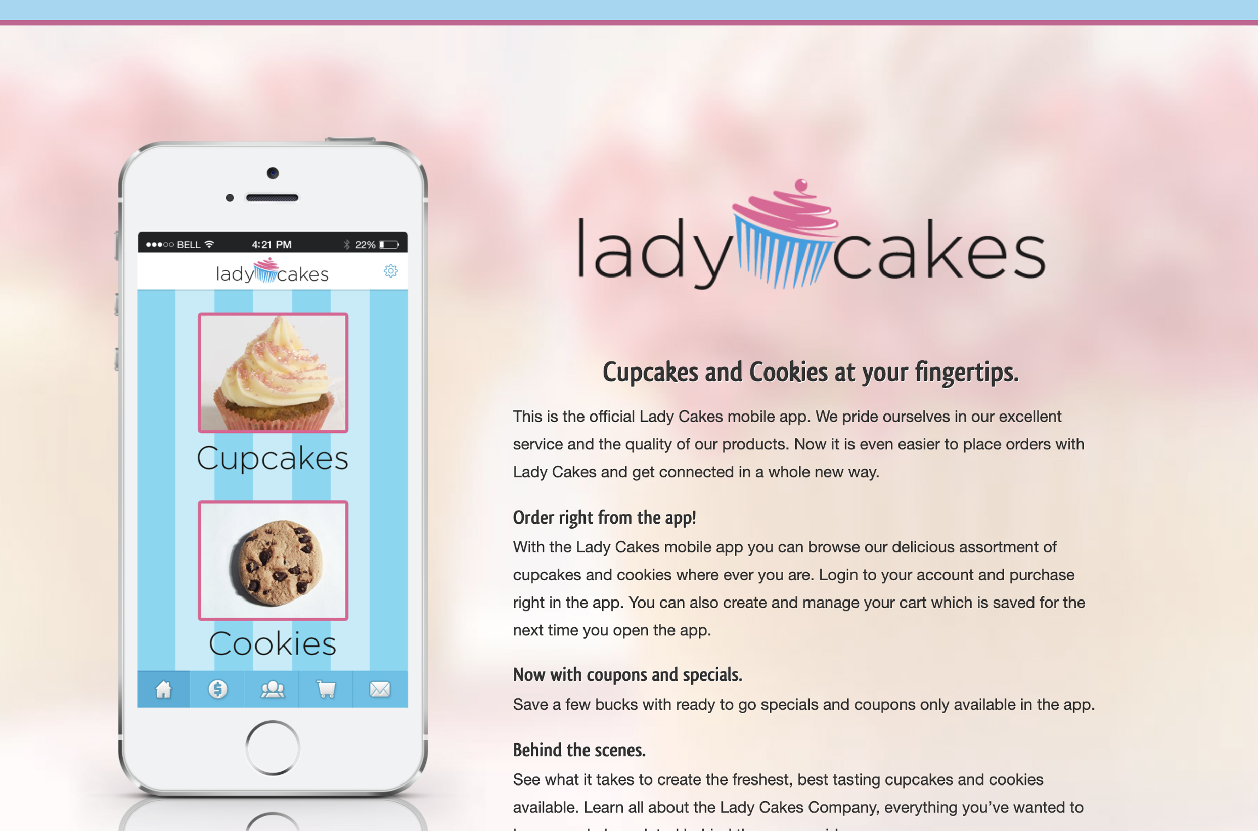 Lady Cakes App Page Thumbnail